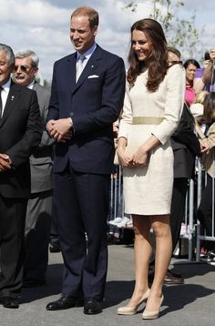 Will and Kate visit the Somba K'e Civic Plaza on July 5, 2011 in in Yellowknife, Northwest Territories.