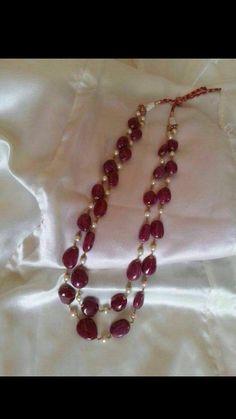 Ruby Jewelry, India Jewelry, Bead Jewellery, Pendant Jewelry, Gemstone Jewelry, Jewelery, Gold Pendant, Jewelry Necklaces, Beaded Jewelry Designs
