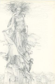 Lady of the Lakeby Alan Lee- Change to angel or soldier?