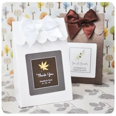 Personalized Fall Themed Favor Bags