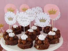 Baby Shower Princess, Baby Princess, Shower Party, Baby Shower Parties, Flamingo Cake, Ideas Para Fiestas, Pink And Gold, Tea Party, Candy