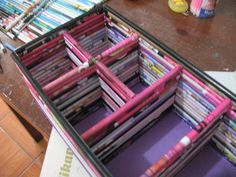 Organizador a partir de revistas recicladas (portacosmeticos) …