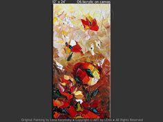 """Happy and Joyful"" - Original Flower Paintings by Lena Karpinsky, http://www.artbylena.com/original-painting/21092/happy-and-joyful.html"
