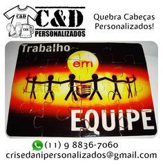 Quebra Cabeças personalizado C&D Este é um modelo para dinâmica de grupo!  #quebracabeca #presente #empresa #dinamica @danilosodredacruz @larabencoadocrisedani