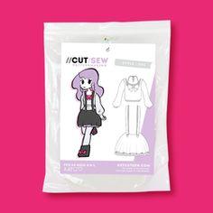 Jumper Skirt and Crop Japanese Street Fashion Sewing Pattern Cosplay Tutorial, Cosplay Diy, Cute Cosplay, Cosplay Outfits, Fashion Sewing, Diy Fashion, Street Fashion, Fashion Outfits, Maid Outfit Anime