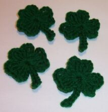 Creative crocheted shamrock pattern, better than most I have seen.