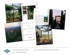 Impaginazione e ritocco fotografico per libro sui giardini di artisti in toscana, per lo Studio Ciampi edizioni Verba Volant