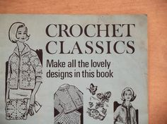 Vintage 1960s crochet patterns book Crochet by EAGERforWORD, £10.00