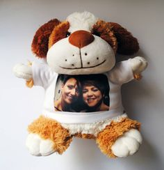 PERSONALIZED PLUSH TOY DOG WITH YOUR PHOTO OR IMAGE #Unbranded Dog Toys, Your Photos, Plush, Teddy Bear, Dogs, Projects, Animals, Image, Log Projects
