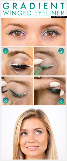 Have you mastered the cat eye? Challenge yourself with this gradient eyeliner tutorial.