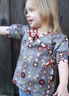 sewing tutorial for little girls round up top..