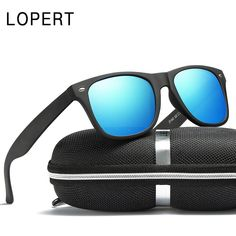 6655b78297 LOPERT Brand Designer Polarized Sunglasses Men Women Driving Mirrors  Coating Points Black Frame Eyewear Male Sun Glasses For Men.