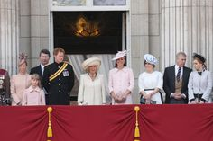 The entire family gathered to celebrate the Queens official birthday on June 15, 2013.                                     via @AOL_Lifestyle Read more: http://www.aol.com/article/2013/05/24/kate-middletons-pregnancy-style/20504296/?a_dgi=aolshare_pinterest#slide=26323|fullscreen