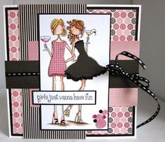 Honey Bootique: Stamping Bella Uptown Girls Victoria and Juliette's Night Out