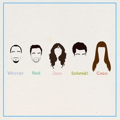 new girl poster winston schmidt jess nickmiller cece Its Jess, Nick And Jess, Gilmore Girls, Movies Showing, Movies And Tv Shows, Gossip Girl, New Girl Tv Show, New Girl Quotes, Jessica Day