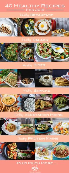 Need a detox from all those cookies and holiday parties, but don't want to eat boring food? Here are 40 Creative Healthy Recipes for Get your year started Healthy Cooking, Healthy Dinner Recipes, Healthy Life, Diet Recipes, Healthy Snacks, Healthy Living, Cooking Recipes, Eating Healthy, Picnic Recipes