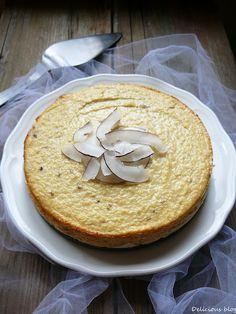 Delicious blog: Banánovo-kokosový tvarožník Paleo, Keto, Hummus, Camembert Cheese, Yummy Food, Delicious Blog, Tiramisu, Cheesecake, Clean Eating