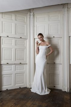 A look at the latest Halfpenny London wedding dress collection, including the inspiration behind this year's ethereal looks. Plain Wedding Dress, Wedding Dress Trends, Elegant Wedding Dress, One Shoulder Wedding Dress, Wedding Blog, Wedding White, Wedding Wishes, Wedding Gowns, Wedding Planner