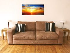Modern hand painted canvas paintings landscape the sea wall art
