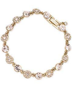 Givenchy Gold-Tone Pavé Flex Bracelet