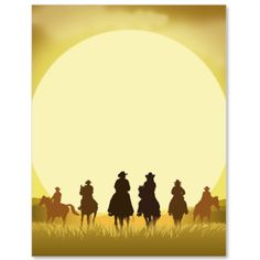 Sunset Escape Letter Paper from Idea Art Western Theme Decorations, Westerns, Cowboy Theme Party, Scrapbook Paper, Scrapbooking, Aesthetic Images, Cowboy And Cowgirl, Party Themes, Stationery