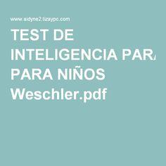 TEST DE INTELIGENCIA PARA NIÑOS Weschler.pdf