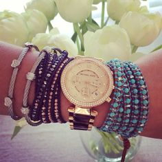 Add rose gold for an instantly chic stack summer look.