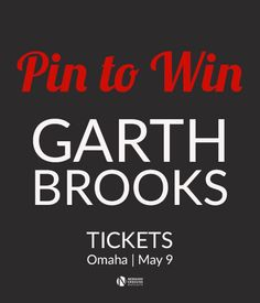 Win Tickets to Garth Brooks Valued at $700 From NEX Outlets! #GarthNEX Learn more here: http://nexinsider.com/2015/04/23/pin-to-win-garth-brooks-tickets/