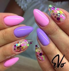 Nails lavender Nail art Christmas the festive spirit on the nails. Over 70 creative ideas and Nail art Christmas the festive spirit on the nails. Over 70 creative ideas and Classy Nails, Stylish Nails, Trendy Nails, Confetti Nails, Lavender Nails, Nagellack Trends, Fire Nails, Pretty Nail Art, Cute Acrylic Nails