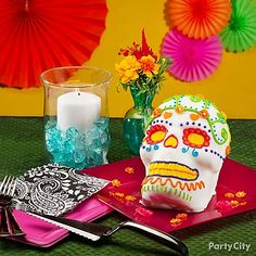 bake a sweet calavera cake for Day of the Dead