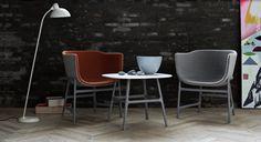 minuscule - CM200 Lounge Sessel mit Naturlederpaspeln - Fritz Hansen