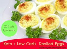 Keto Deviled Eggs – Low Carb | http://www.mydreamshape.com/keto-deviled-eggs-low-carb/