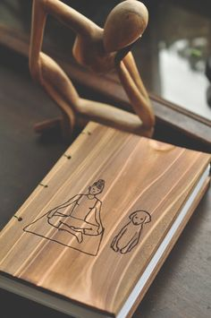 Letterpress Wooden handcrafted Yoga Sketch/Journal by MsquarePress, $64.95