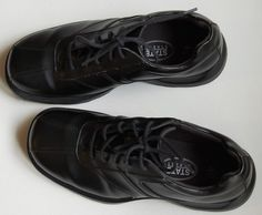 State Street Men's Black Lace Up Athletic Shoes #StateStreet #Oxfords
