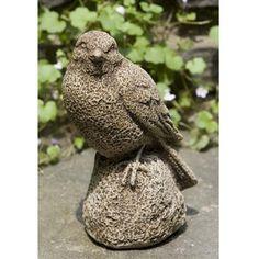 Campania International, Inc Sparrow Statue Color: Ferro Rustico Garden Statues For Sale, Stone Garden Statues, Garden Fountains, Cement Statues, Bird Statues, Bird Sculpture, Garden Sculpture, Sculptures, The Crowns Game