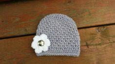 Newborn Beanie Newborn Hat Light Purple Hat by Littlest Yarn Shop