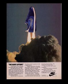 Nike Advert Old Nikes, 80s Ads, 90s Pattern, Nike Ad, Nike Retro, Creative Shoes, Vintage Sneakers, Shoes Photo, Cool Writing