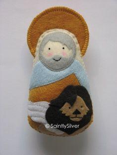 Saint Mark.....Felt Softie by SaintlySilver on Etsy