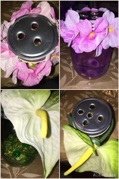 Get an empty mason jar, gather flowers that you probably have in the attic and make such a cute amazing container with you favorite aroma breeze