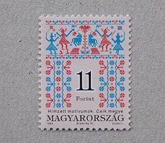 ハンガリーの刺繍切手 <11フォリント> - シトラスペーパー・オンラインショップ