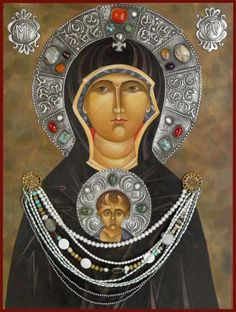 Mary Jane Miller , original egg tempera icon. Mary Magdalene, Apostle to the Apostles, religious art, Modern catholic iconography, images of icons, women in icons, Icon Painting and Estano work by  Valentin and Mary Jane Miller
