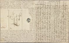 A letter from Jane Austen to her sister Cassandra, cross written to save paper, February 8-9, 1807