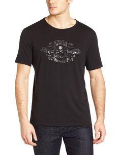 John Varvatos Men's Arsenic Tee Shirt, Black, Medium Washed cotton. Tag less.  #John_Varvatos #Apparel