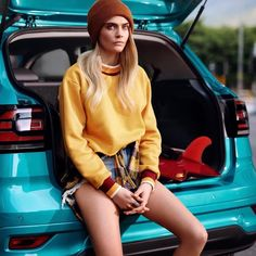 Cara for Volkswagen – Carroty Cara Delevingne Cara Delevingne Photoshoot, Cara Delevingne Style, Beautiful Models, Most Beautiful Women, Cara Delvingne, Female Fighter, Clothes Pictures, Powerful Women, Autumn Winter Fashion