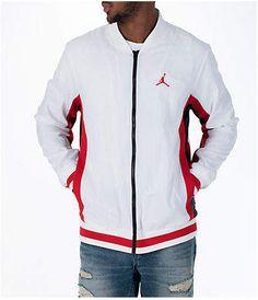 8e837eb2dea Nike Men's Jordan Sportswear Rings Track Jacket, White Jordan Jackets,  Jordans For Men,