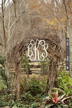 monogram at ceremony | CHECK OUT MORE IDEAS AT WEDDINGPINS.NET | #weddings