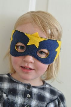 superhero mask - @Michelle Flynn Goodman We need to make these for the girls and JoJo!!!