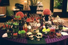 Halloween night wedding sweets table by The Couture Cakery, via Flickr