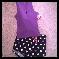 PJ set! Tank top & shorts Brand new! Super comfy! 100% cotton! Sleep Riot Intimates & Sleepwear Pajamas