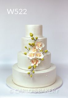 Welcome to Carlo's Bakery Floral Wedding Cakes, White Wedding Cakes, Elegant Wedding Cakes, Wedding Cake Designs, Cake Wedding, Elegant Cakes, Wedding Shoes, Wedding Dresses, Cupcakes